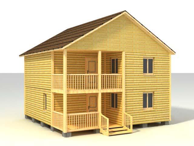 Дом 38, двухэтажный дом 8х8 м.